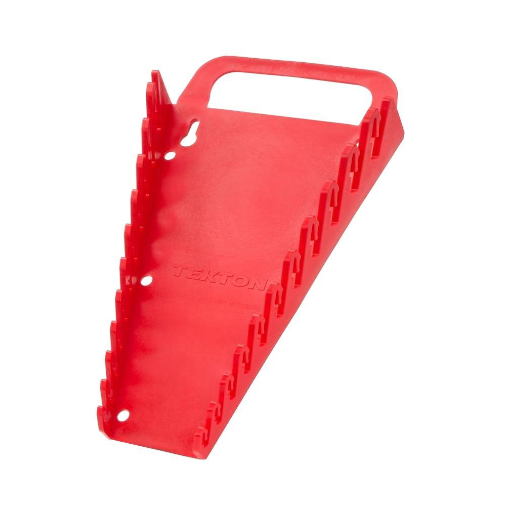 TEKTON 11-Tool Store-and-Go Wrench Keeper (Red)
