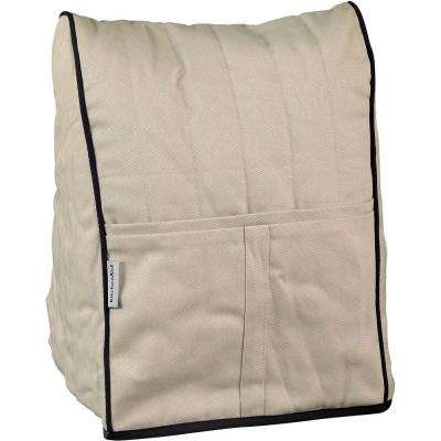 Cloth Cover in Khaki with Black Piping for Stand Mixer