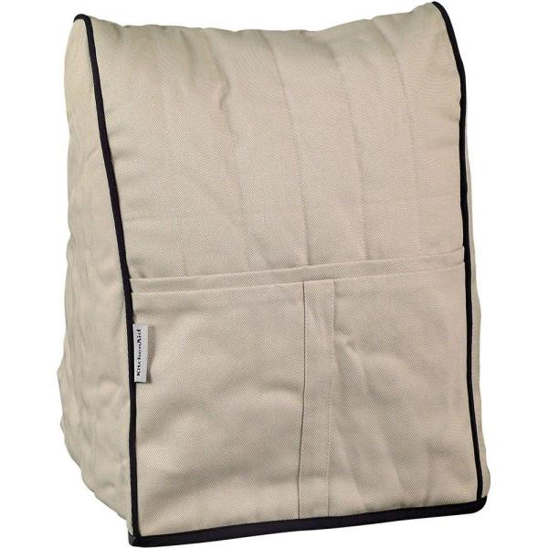 KitchenAid Cloth Cover in Khaki with Black Piping for Stand Mixer