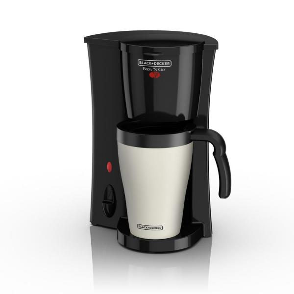 BLACK+DECKER Brew'n Go Black and Almond Single Serve Coffee Maker with