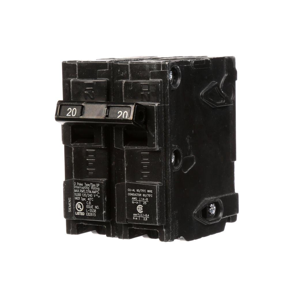 20 Amp Double-Pole Type QP Circuit Breaker