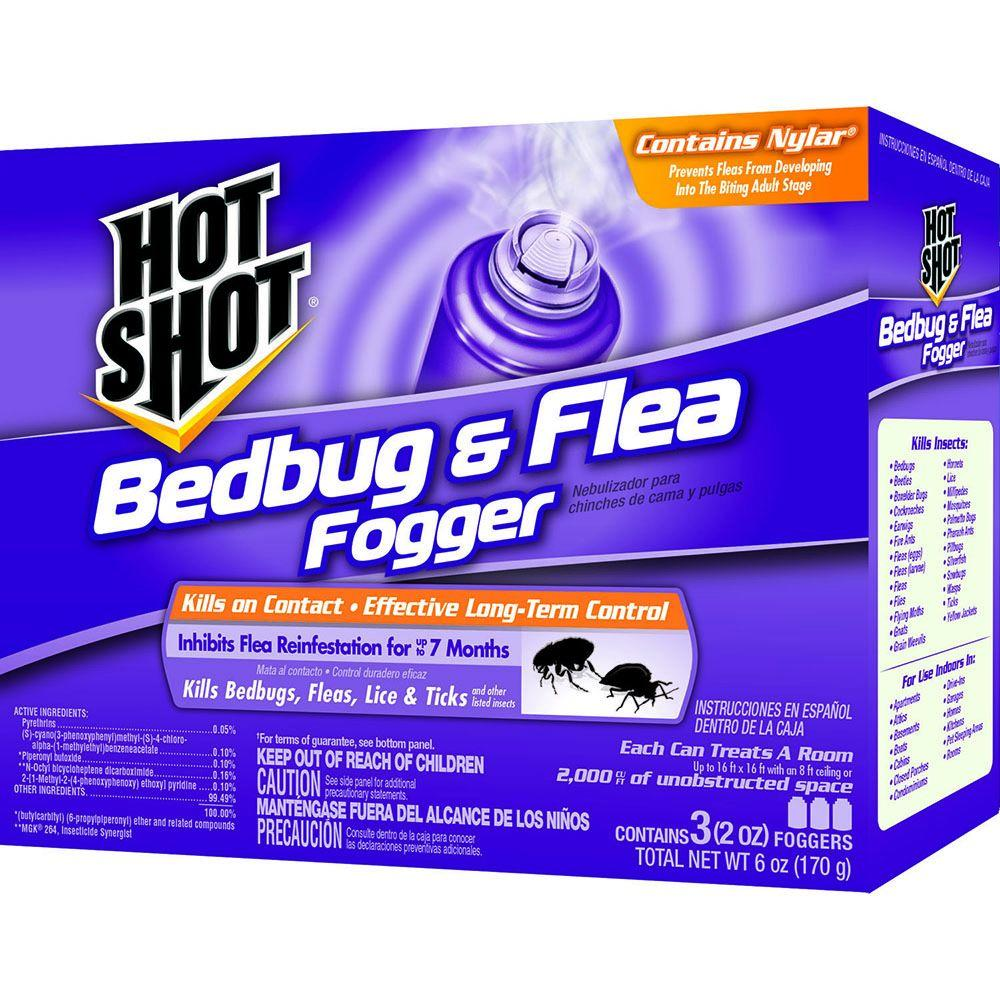 Hot Shot Bed Bug and Flea Killer 2 oz. Aerosol Fogger (3-Pack)