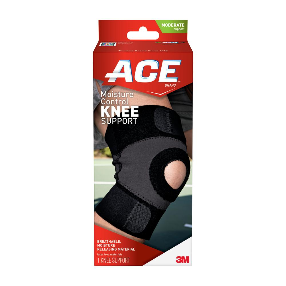 Ace Small Moisture Control Knee Support Brace in Black