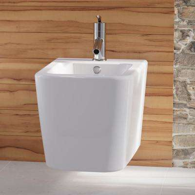 Concorde Square Wall Hung Bidet in Glossy White