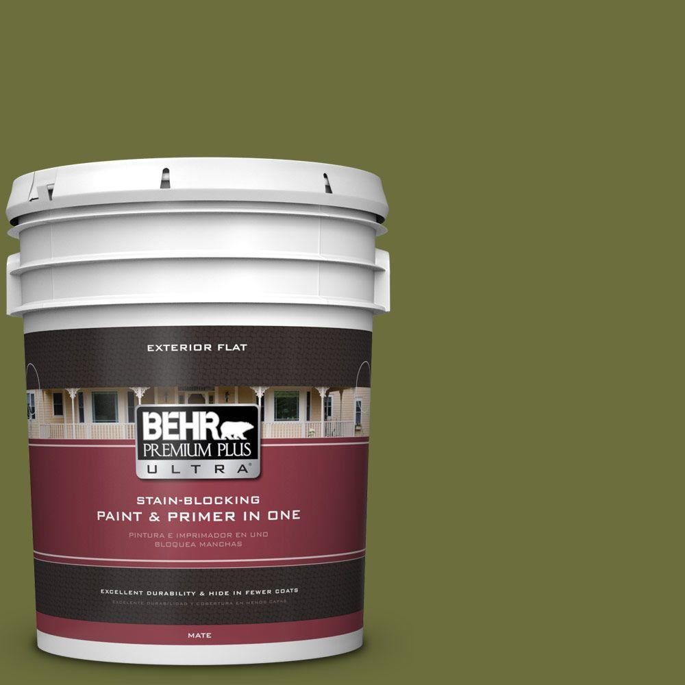 behr premium plus ultra 5 gal n420 7 alpine trail flat exterior paint 485305 the home depot. Black Bedroom Furniture Sets. Home Design Ideas