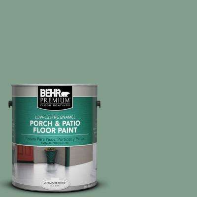 1 gal. #S410-5 Track Green Low-Lustre Porch and Patio Floor Paint