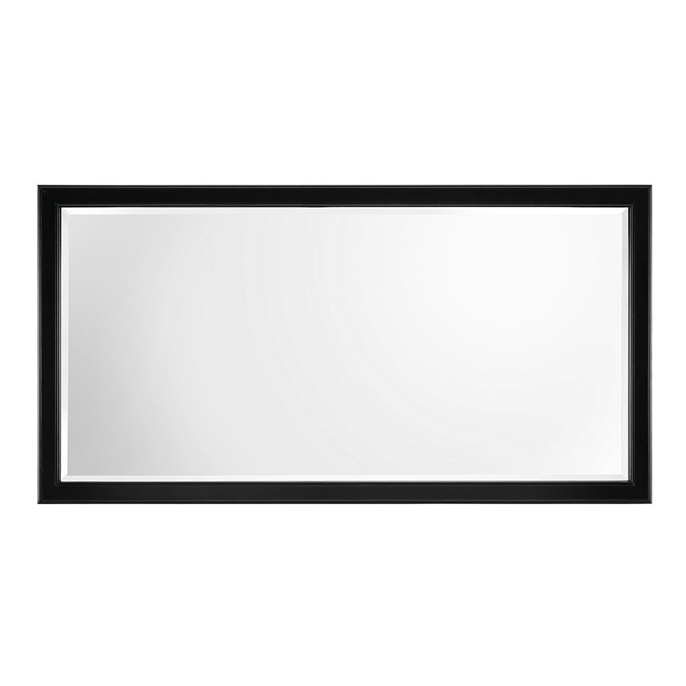 Home Decorators Collection Gazette 60 in. W x 31 in. H Single Framed Wall Mirror in Espresso, Brown was $319.0 now $223.3 (30.0% off)