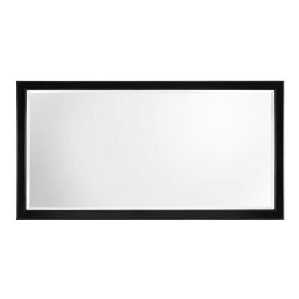 Gazette 60 in. W x 31 in. H Single Framed Wall Mirror in Espresso