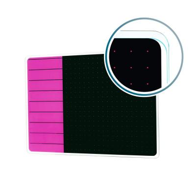 Viztex® Glacier 17 in. x 23 in. Violet and Black Plan and Grid Glass Dry Erase Board