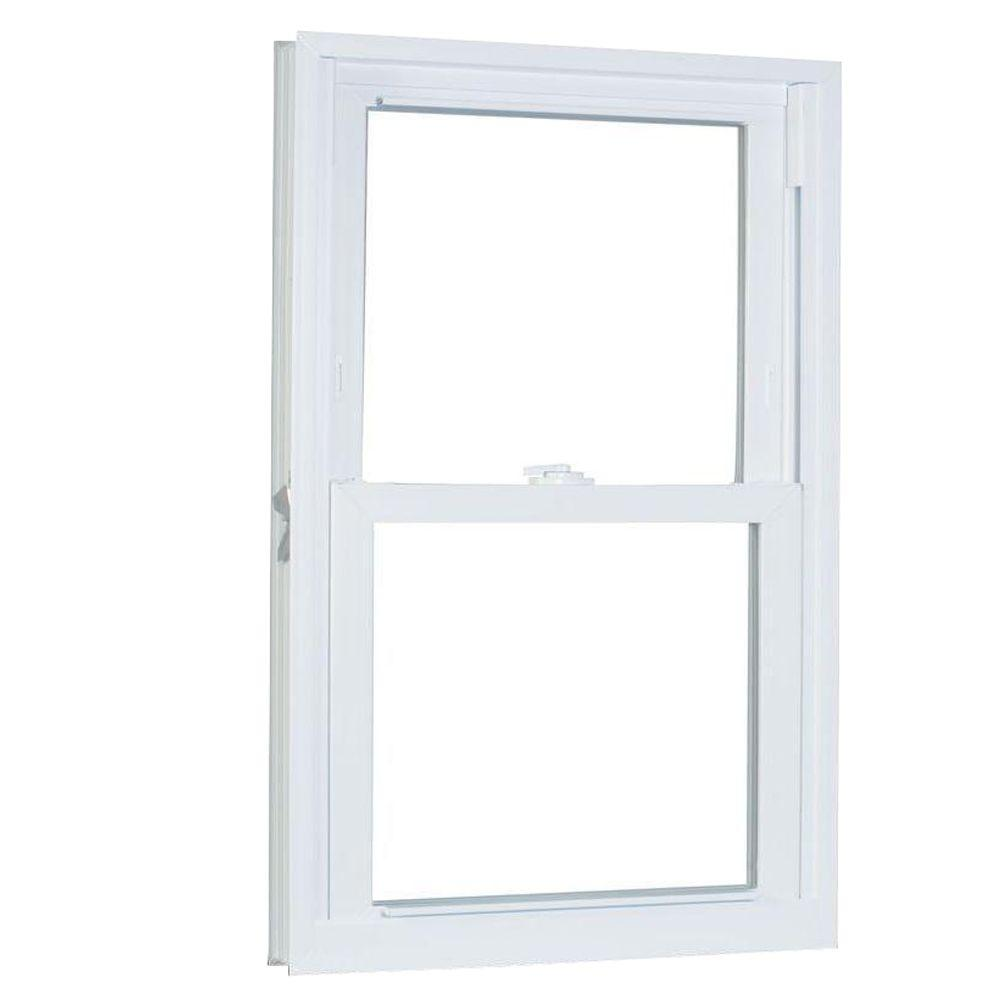 American Craftsman 31.75 in. x 69.25 in. 70 Series Pro Double Hung White Vinyl Window with Buck Frame