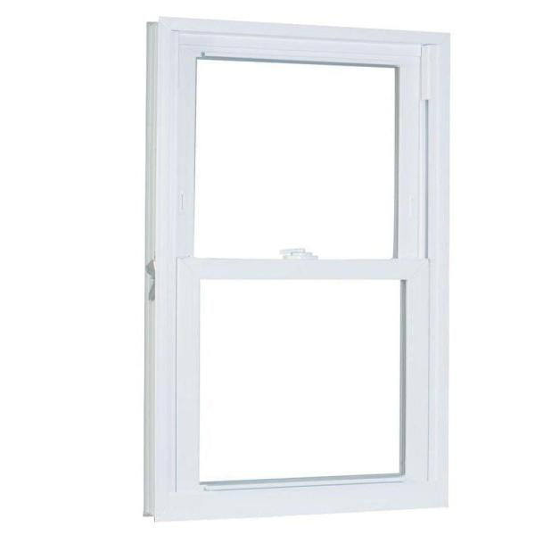 31.75 in. x 69.25 in. 70 Series Pro Double Hung White Vinyl Window with Buck Frame