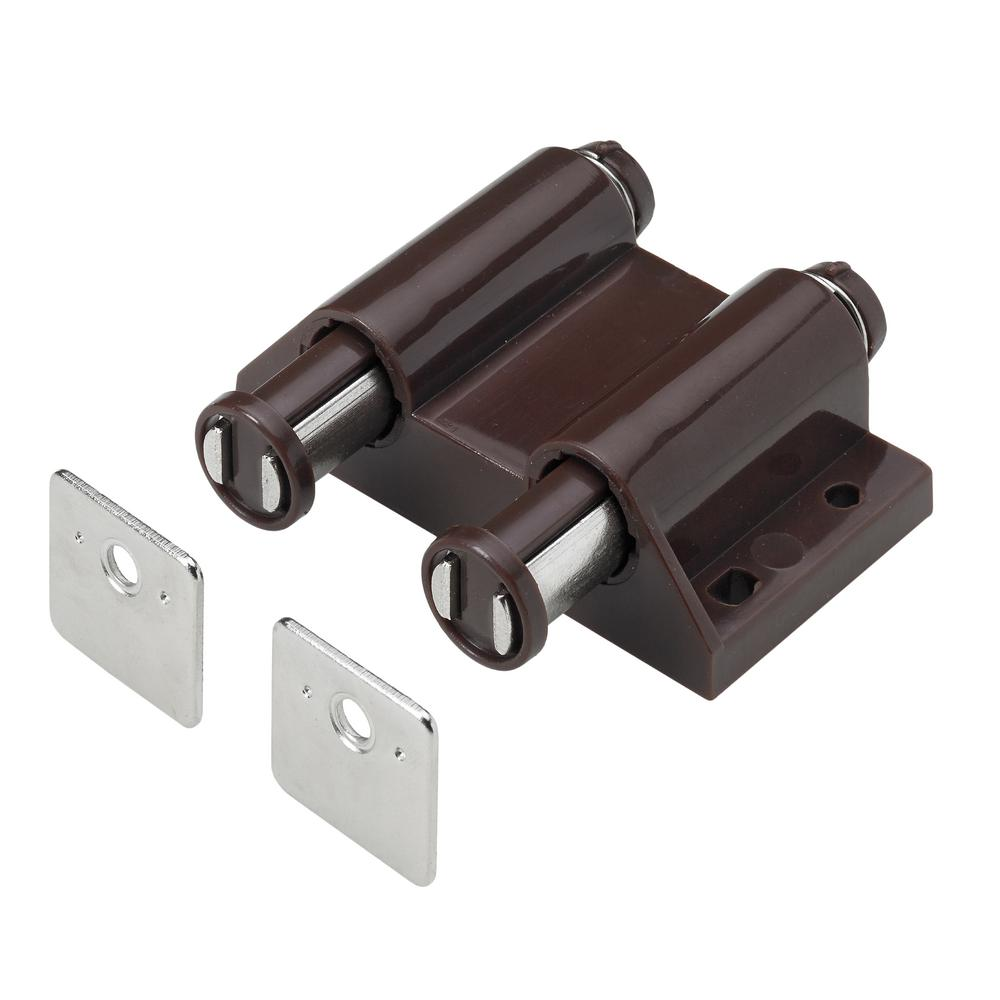 Everbilt Double Magnetic Touch Latch, Brown (1-Pack)