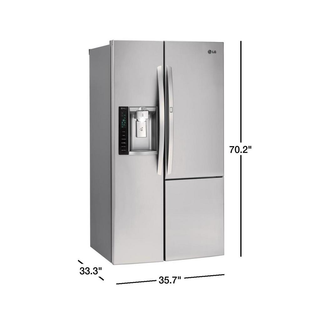 Lg Electronics 26 1 Cu Ft Side By Side Refrigerator With