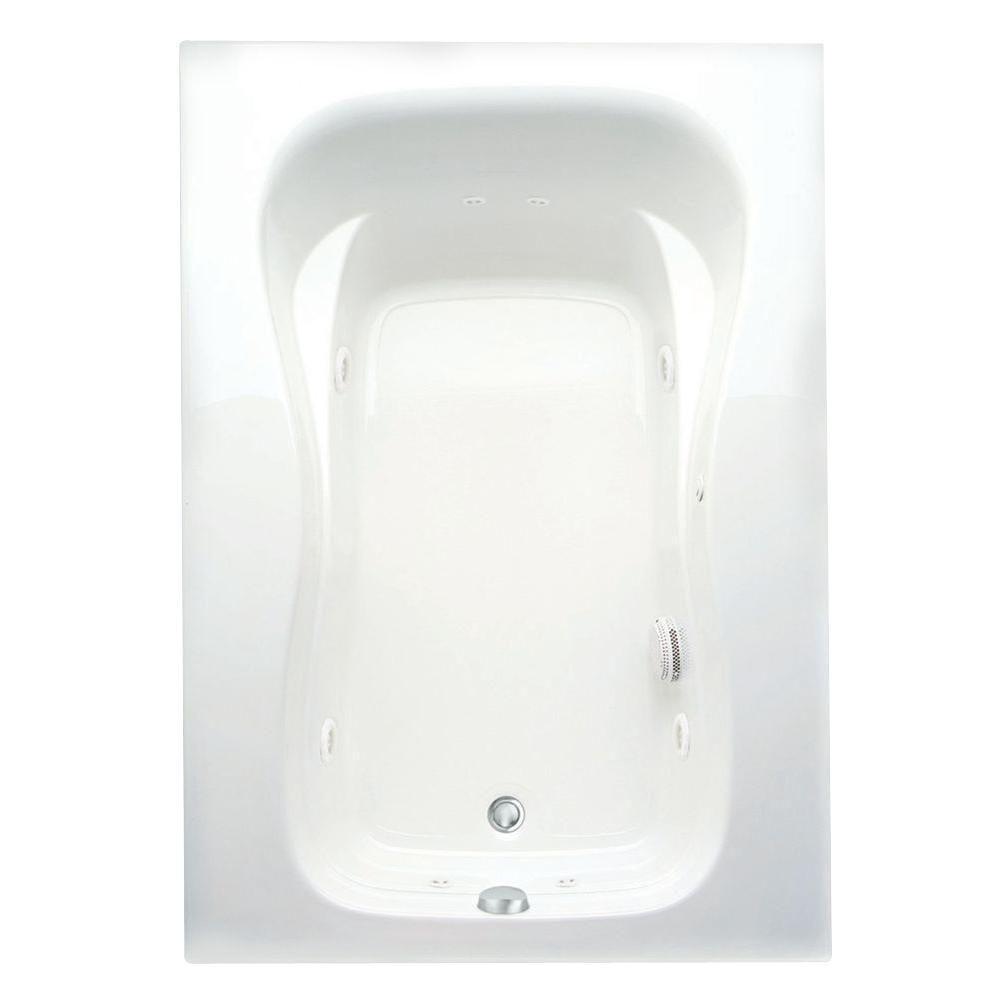 Marratta 60 in. Acrylic Right Drain Rectangular Alcove Whirlpool Bathtub in