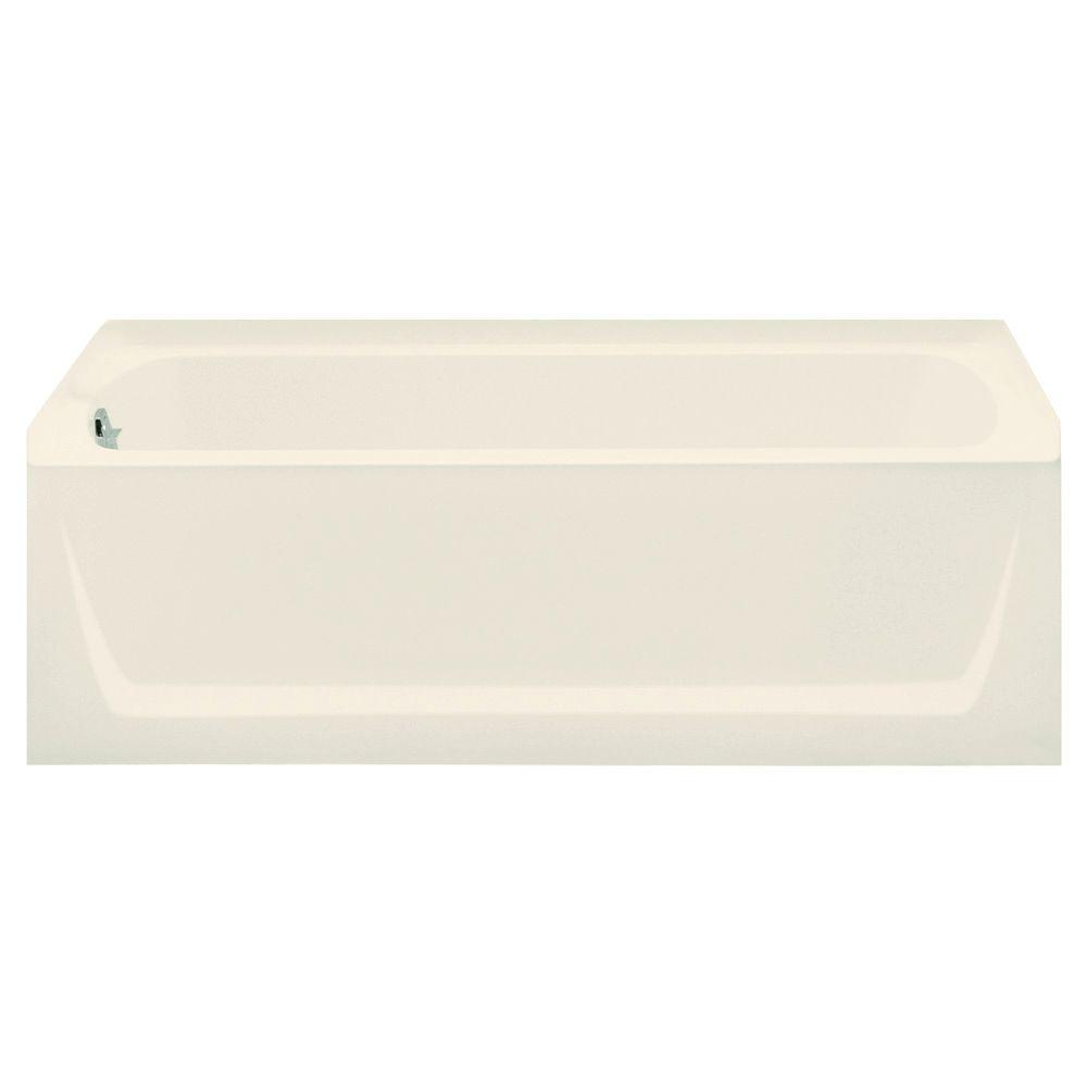 Ensemble 5 ft. Left Drain Rectangular Alcove Soaking Tub in Biscuit