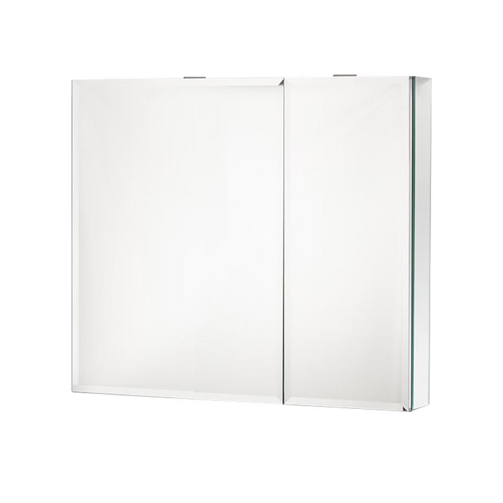 Boyel Living 30 in. x 26 in. Recessed or Surface Mount Medicine Cabinet in Beveled Mirror