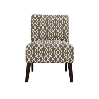 Ollano III Pattern Linen Accent Chair