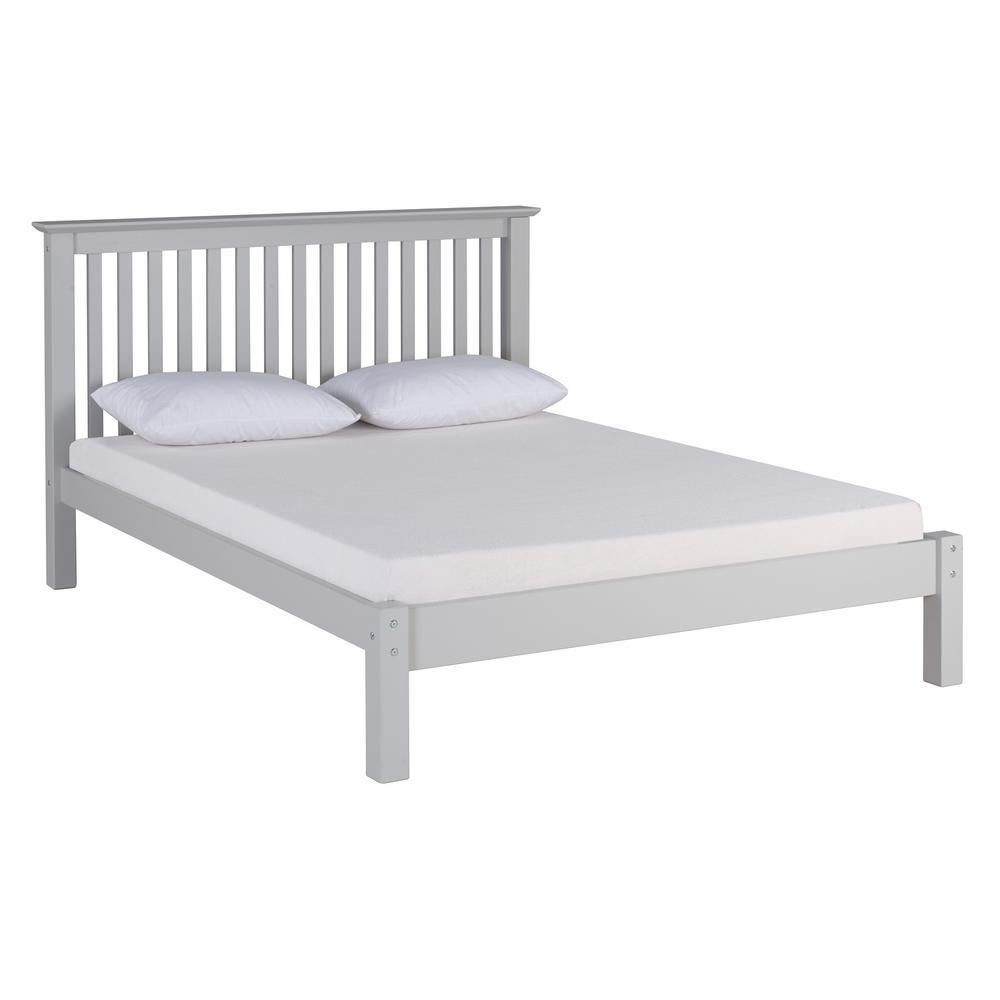 Alaterre Furniture Barcelona Dove Gray Queen Bed AJBA3080