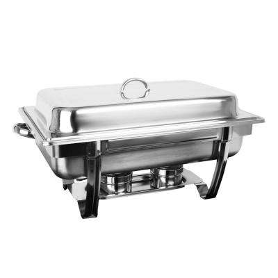 Stainless Steel 8 Qt. Stainless Steel Chafer Stackable Set