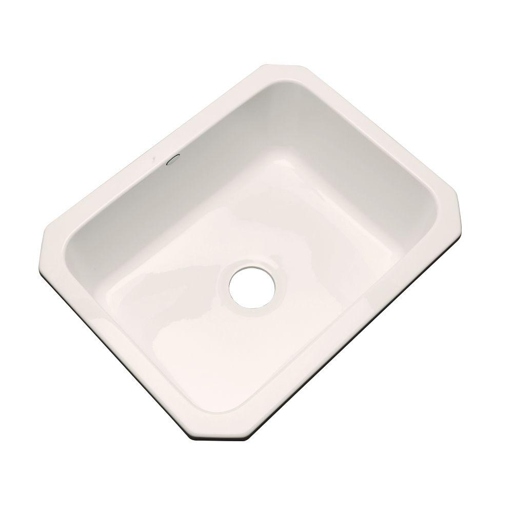 Thermocast Inverness Undermount Acrylic 25 in. Single Basin Kitchen Sink in Bone