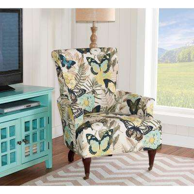Junnell Botanical Print Polyester Arm Chair