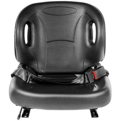 Industrial Forklift Leather Seat with Seat Belt in Black