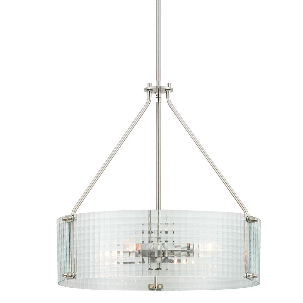 Home Decorators Collection Westlyn 4-Light Brushed Nickel Pendant