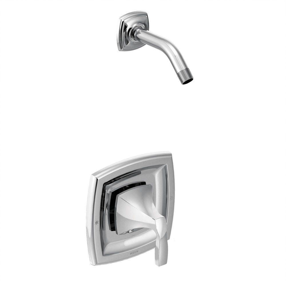 MOEN Voss 1-Handle Posi-Temp Shower Trim Kit Less Showerhead in Chrome (Valve Not Included)