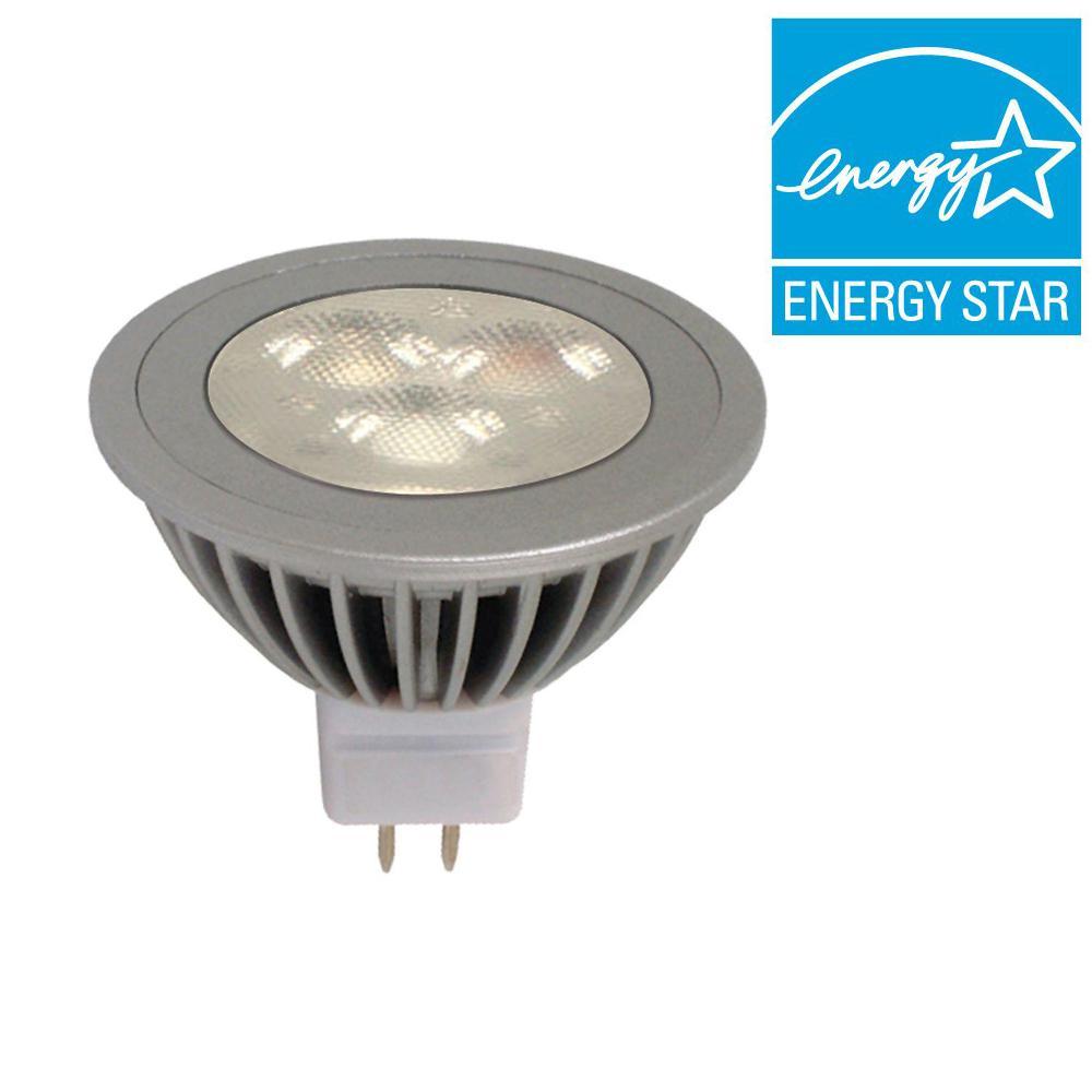 GE 50W Equivalent Bright White (3000K) MR16 Flood LED Light Bulb
