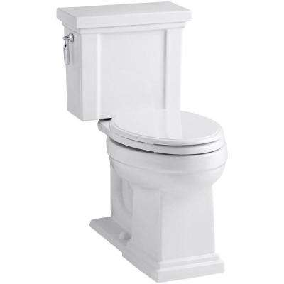 Tresham 2-Piece 1.28 GPF Single Flush Elongated Toilet with AquaPiston Flush Technology in White, Seat Not Included