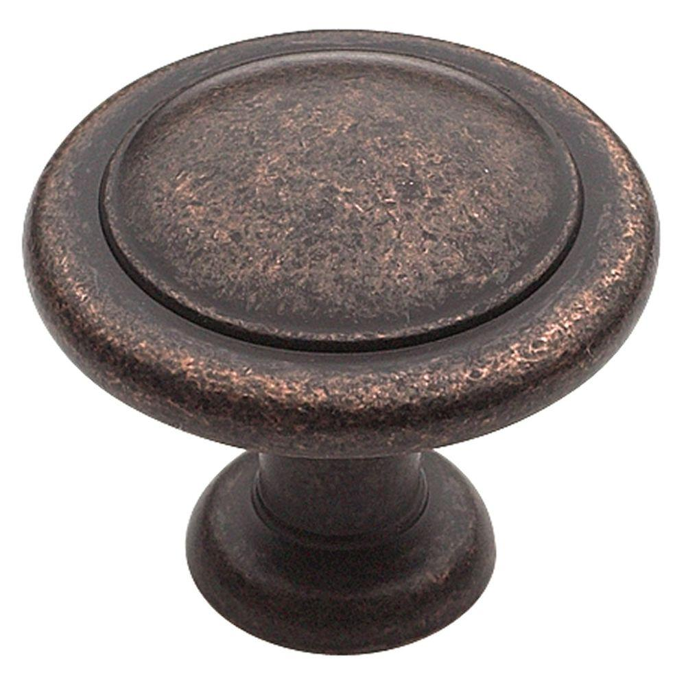 amerock 1 1 4 in roman bronze cabinet knob bp1387rbz the home depot. Black Bedroom Furniture Sets. Home Design Ideas