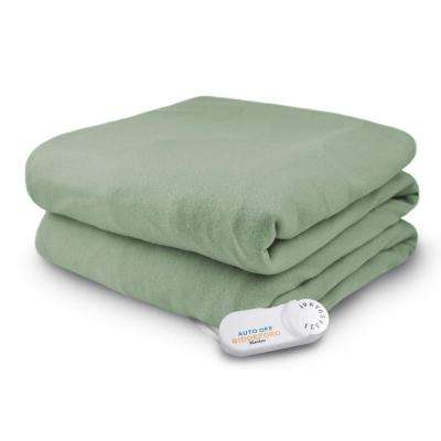 4440 Series Sage 50 in. x 62 in. Comfort Knit Heated Throw