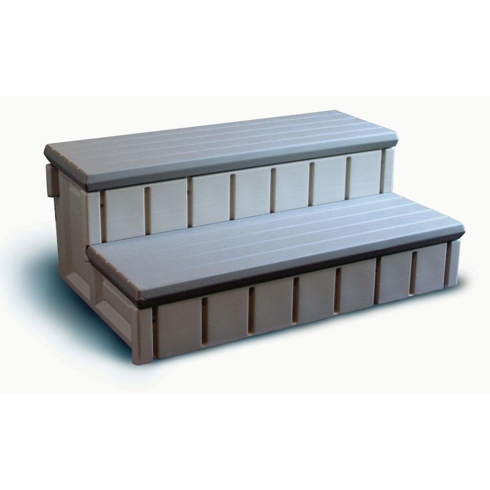 Confer Plastics Spa Step with Gray Storage