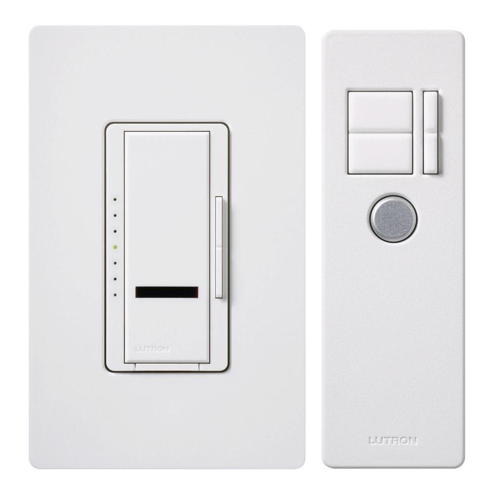 e8b2b999d7f8 Lutron Maestro IR 600-Watt Single-Pole Digital Dimmer, White-MIR ...