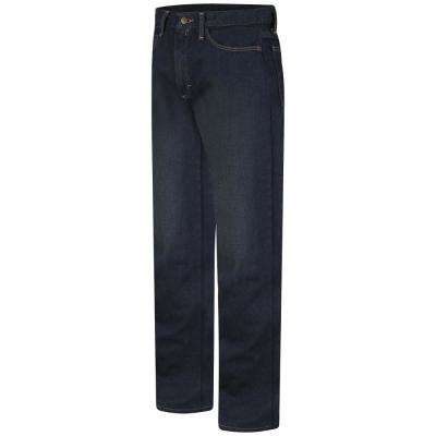 EXCEL FR Men's 30 in. x 32 in. Blue Sanded Denim Men's Straight Fit Jean