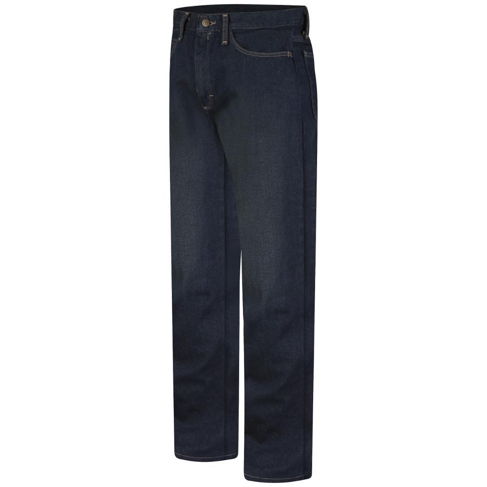 bc667009 EXCEL FR Men's 30 in. x 32 in. Blue Sanded Denim Men's Straight Fit Jean