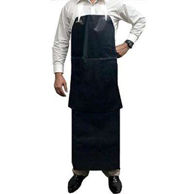 Premium Heavy Duty PVC Leather Apron, Chemical and Water Resistant Double Layer Apron
