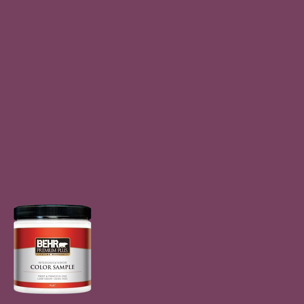 BEHR Premium Plus 8 oz. #690B-7 Plum Jam Interior/Exterior Paint Sample