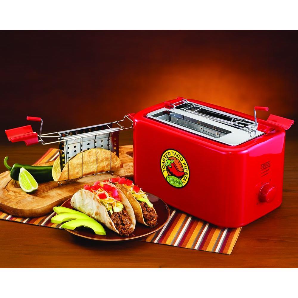 Nostalgia Electrics Fiesta Series 2-Shell Baked Taco Shell Toaster