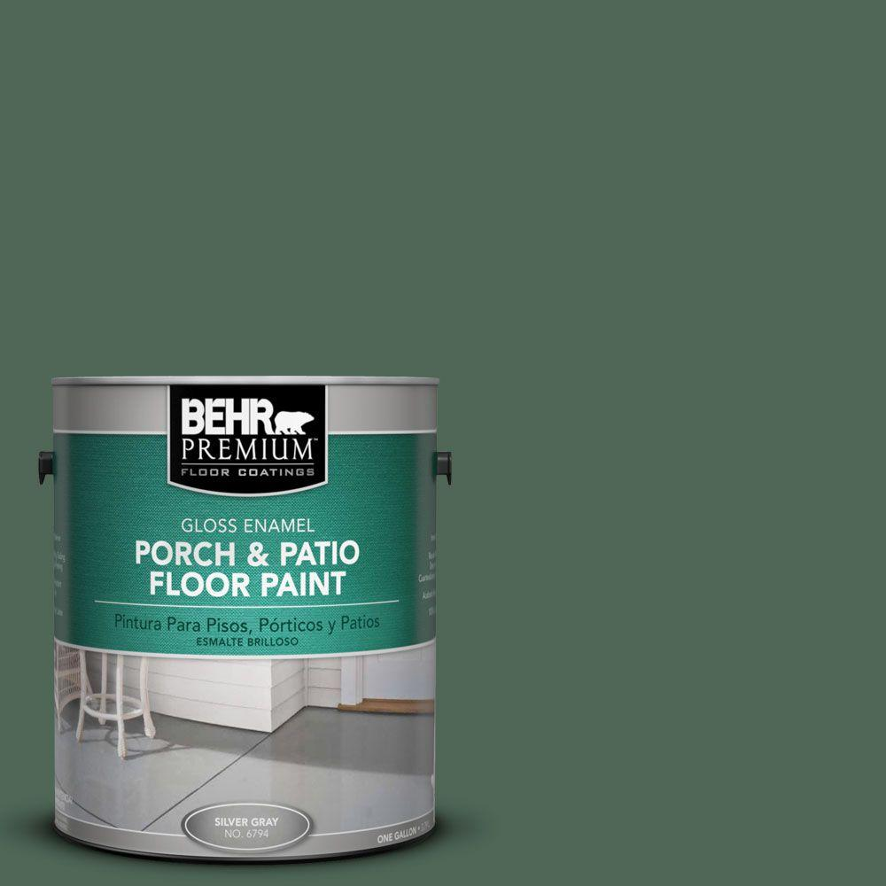 Behr Premium 1 Gal Pfc 40 Green Gloss Porch And Patio