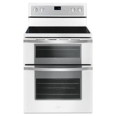 6.7 cu. ft. Double Oven Electric Range with True Convection in White Ice