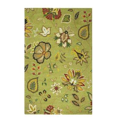 Chintz Green 9 ft. x 12 ft. Area Rug