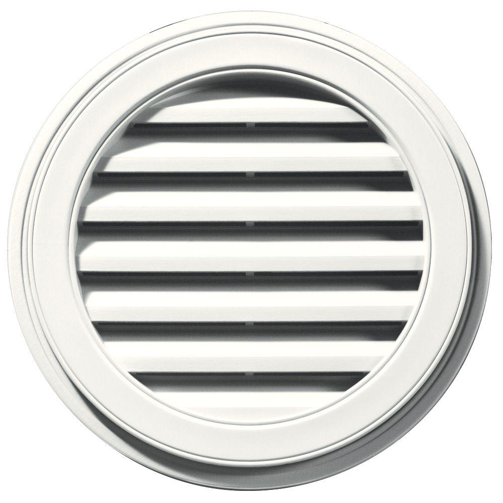 22 in. Round Gable Vent in White