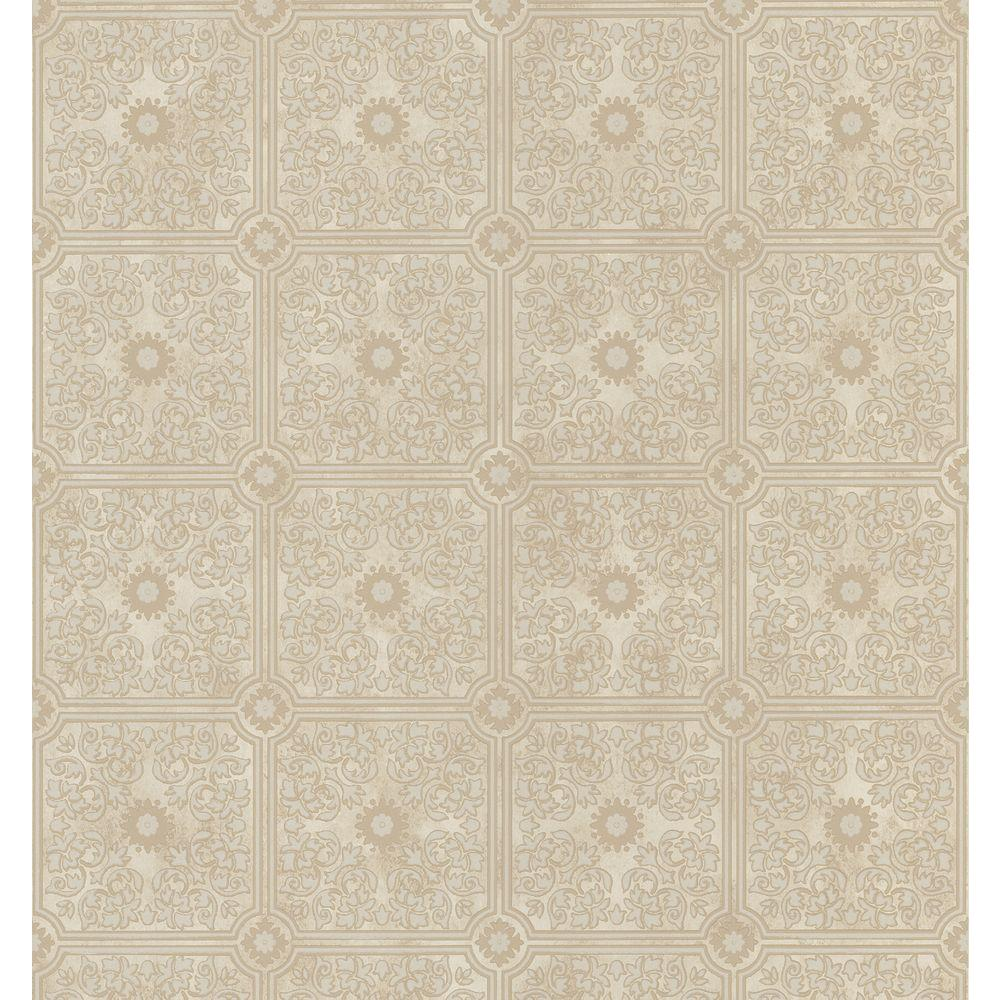 Brewster 8 in. W x 10 in. H Tin Ceiling Wallpaper Sample