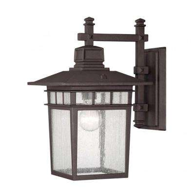 Garcia 1-Light Textured Bronze Outdoor Wall Mount Lantern