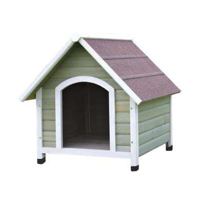 Nantucket Large Dog House in Gray/White