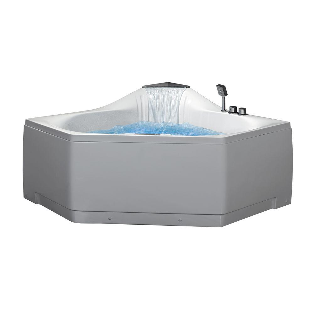 Ariel 5 ft. Whirlpool Tub in White-AM168JDTSZ - The Home Depot