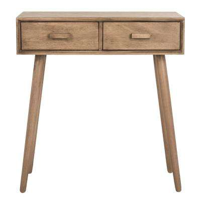 Dean 2-Drawer Desert Brown Console Table