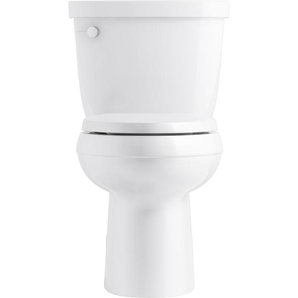 Kohler Cimarron Comfort Height 2 Piece 1 28 Gpf Single Flush Elongated Toilet In White K 5310 0 The Home Depot