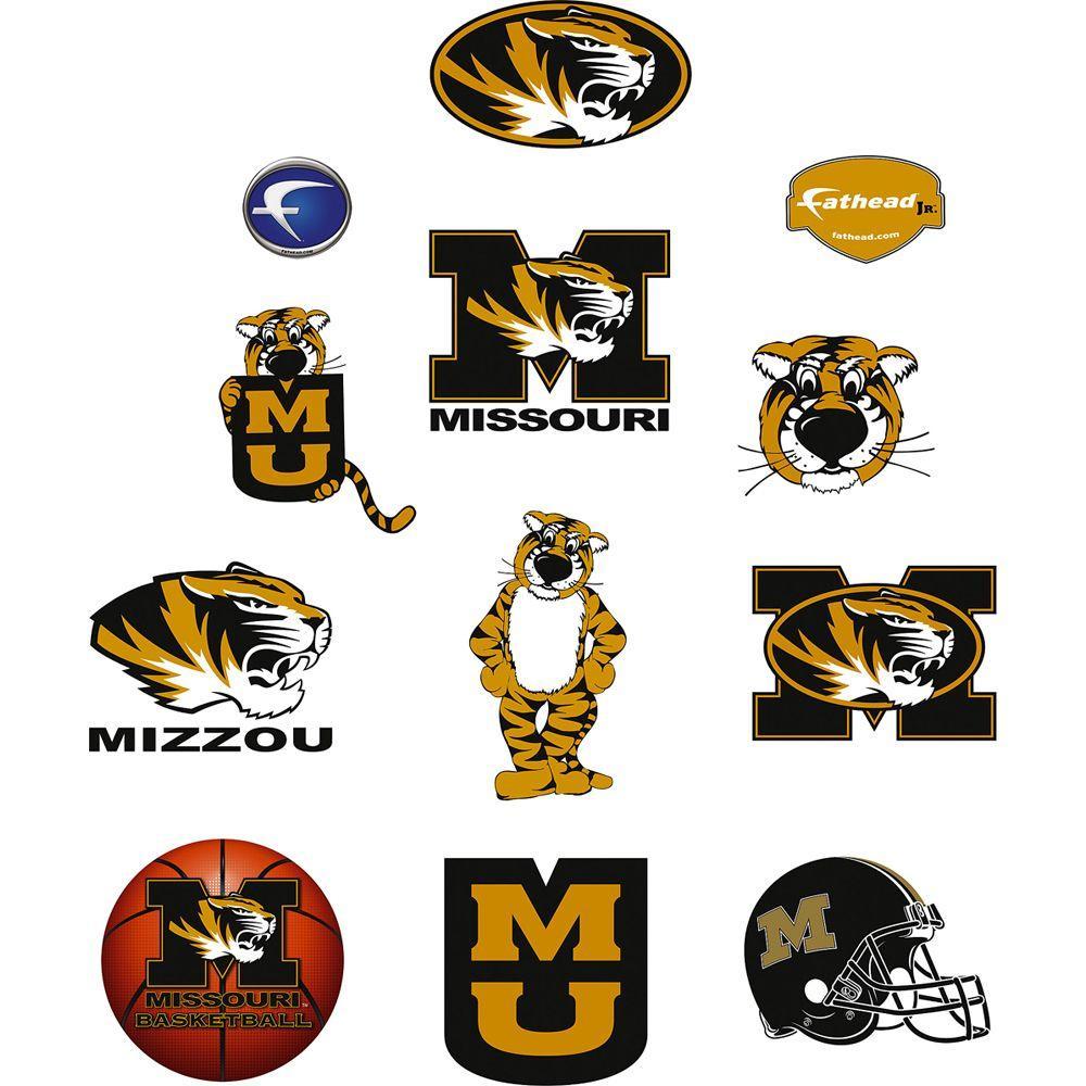 Fathead 40 in. x 27 in. Missouri Tigers Team Logo Assortment Wall Decal